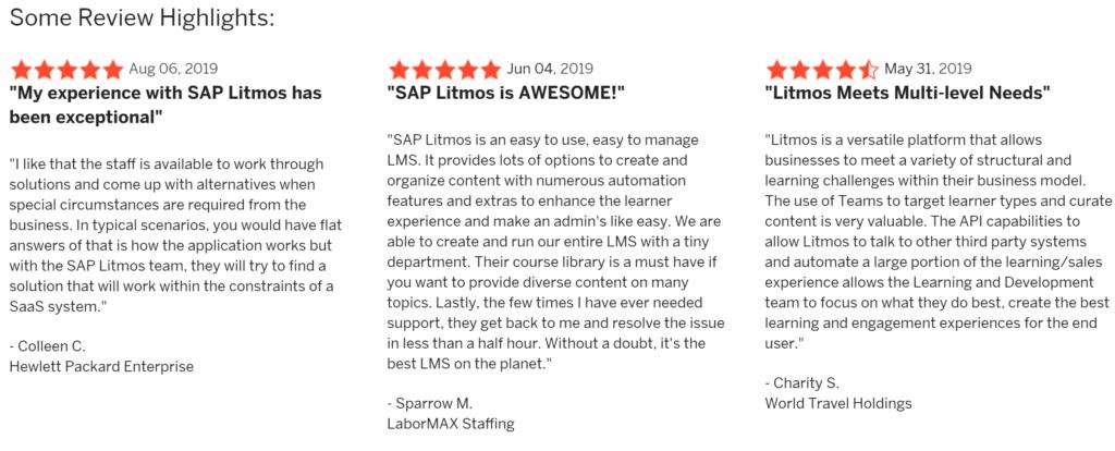 recensioni g2 report litmos leader